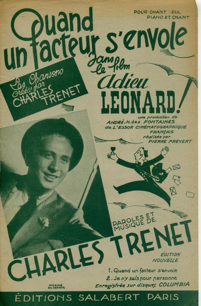 Charles Trenet in Adieu Léonard (1943)