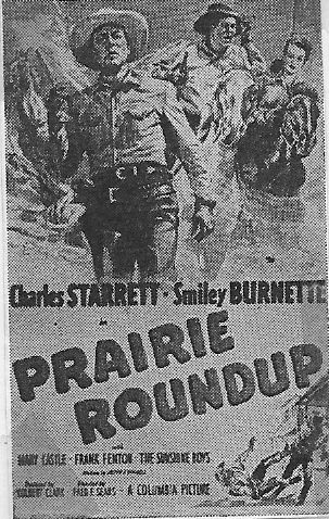 Smiley Burnette, Mary Castle, and Charles Starrett in Prairie Roundup (1951)