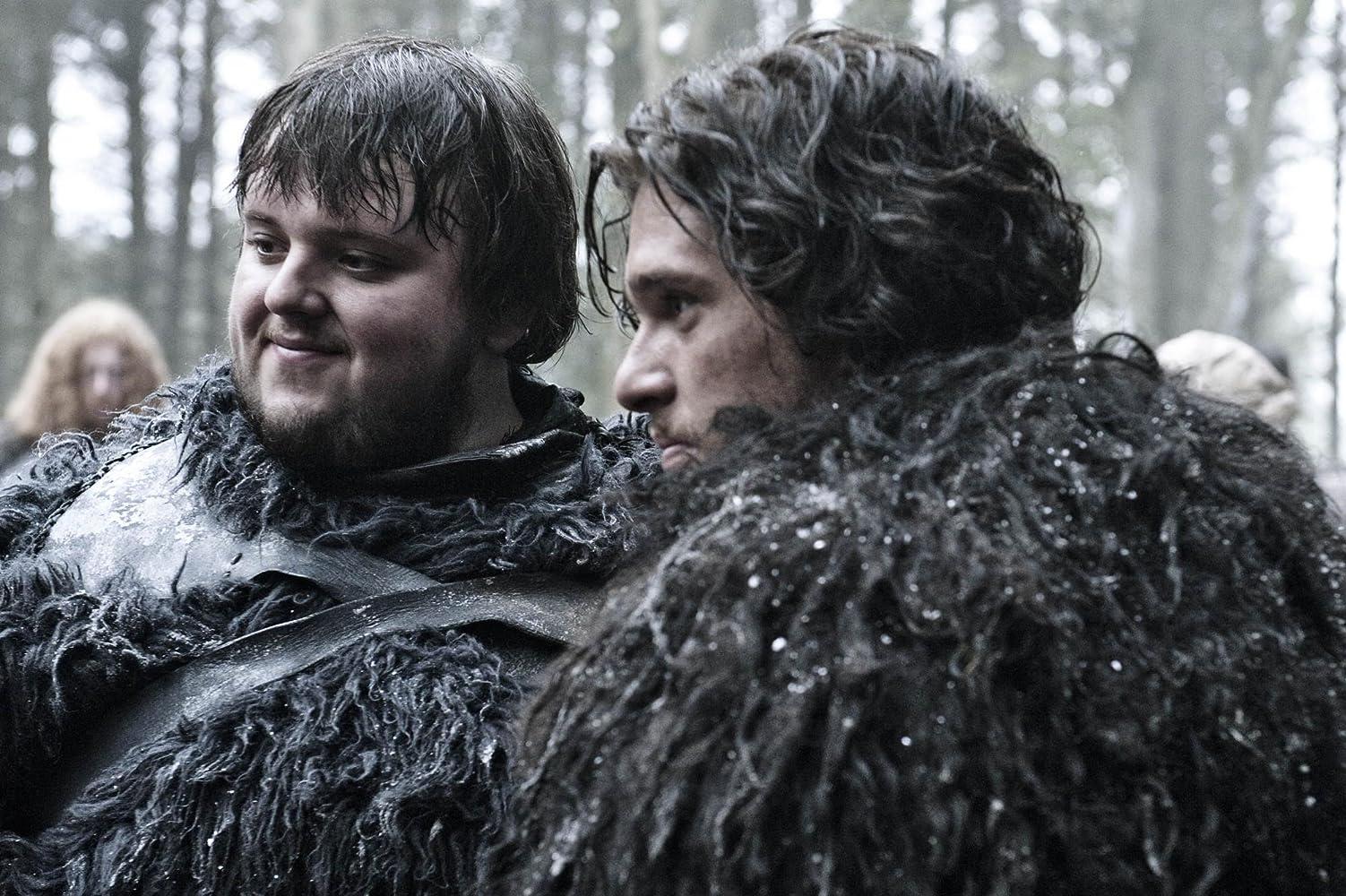 Kit Harington and John Bradley in Game of Thrones (2011)