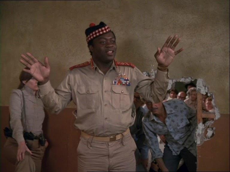 Yaphet Kotto in Raid on Entebbe (1976)
