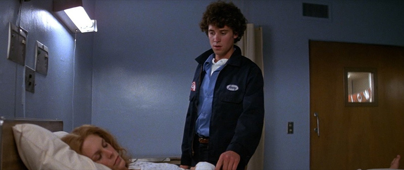 Jamie Lee Curtis and Lance Guest in Halloween II (1981)