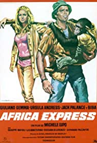 Ursula Andress and Giuliano Gemma in Africa Express (1975)