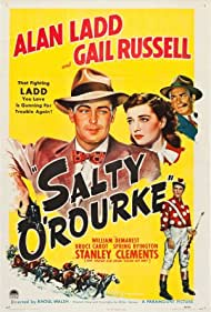 Alan Ladd, Stanley Clements, William Demarest, and Gail Russell in Salty O'Rourke (1945)