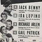 Jack Benny, Richard Arlen, Ben Blue, Judy Canova, Ida Lupino, Gail Patrick, and The Yacht Club Boys in Artists and Models (1937)