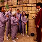 Nikki Sanderson, Sunetra Sarker, Wes Nelson, Matthew Wright, Ann Widdecombe, and Richard Ayoade in The Crystal Maze (1990)