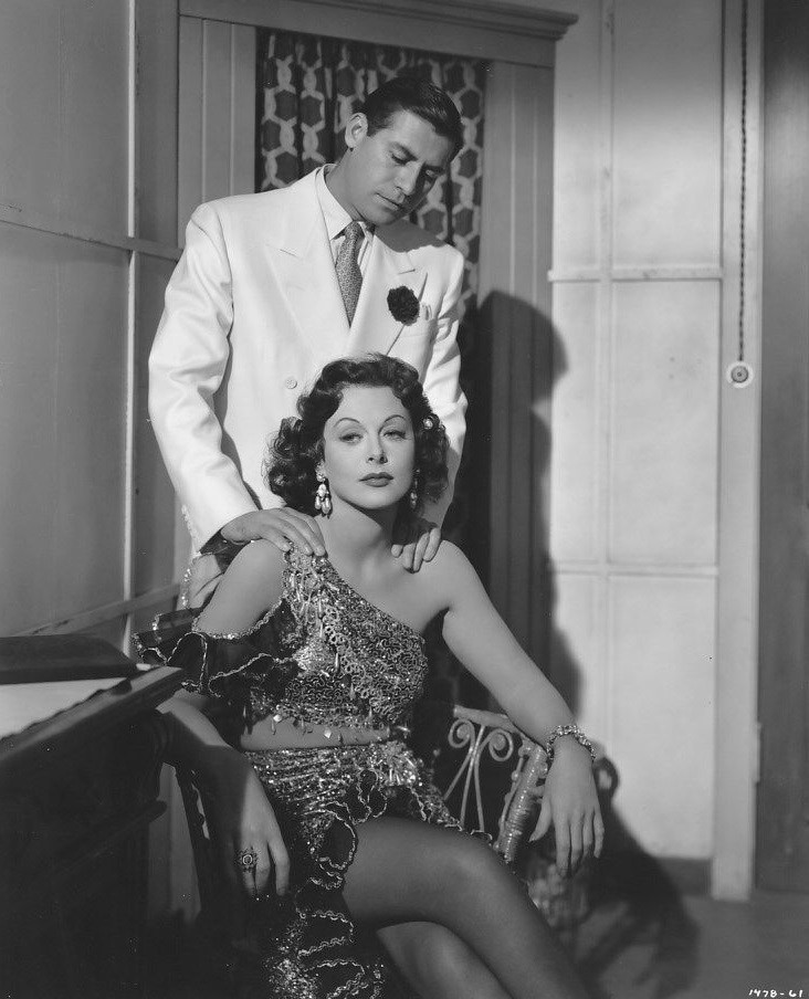 Hedy Lamarr and John Hodiak in A Lady Without Passport (1950)