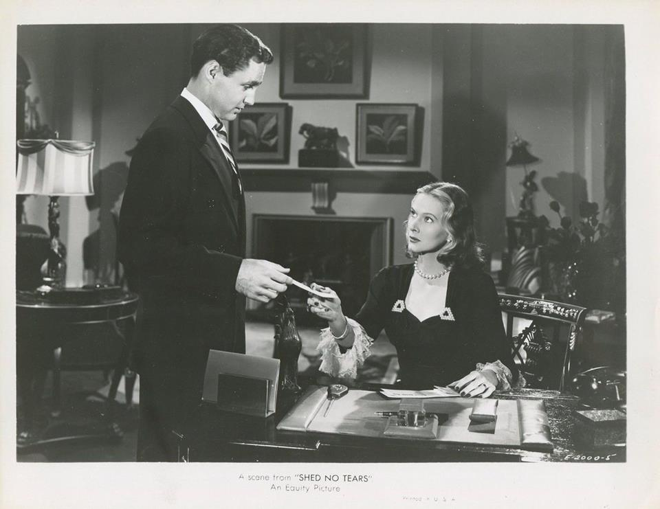 Mark Roberts and June Vincent in Shed No Tears (1948)
