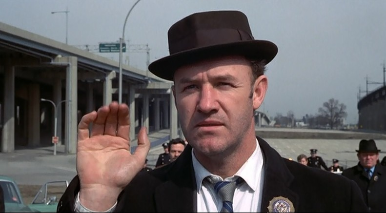 Gene Hackman and Eddie Egan in The French Connection (1971)