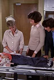 Tammy Harrington, Julie London, Randolph Mantooth, and Ann Prentiss in Emergency! (1972)