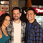 "Maya Stojan, Rene Moran, Sean Robert Olson on the set of ""The Contractor"""