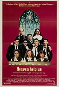 Andrew McCarthy, Patrick Dempsey, Kevin Dillon, and Wallace Shawn in Heaven Help Us (1985)