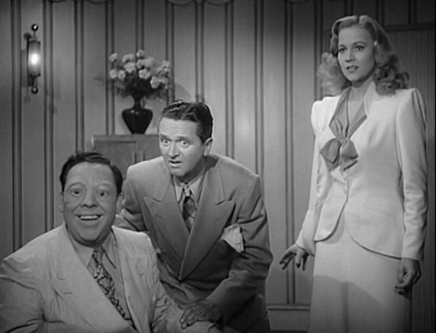 Wally Brown, Alan Carney, and Anne Jeffreys in Zombies on Broadway (1945)