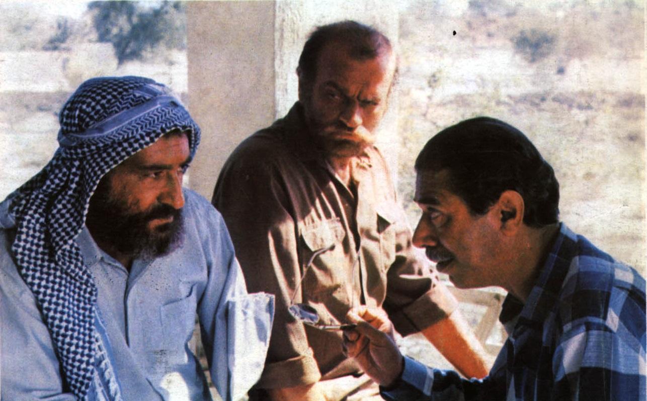 Dariush Arjmand, Ali Nassirian, and Fathali Oveisi in Nakhoda Khorshid (1987)