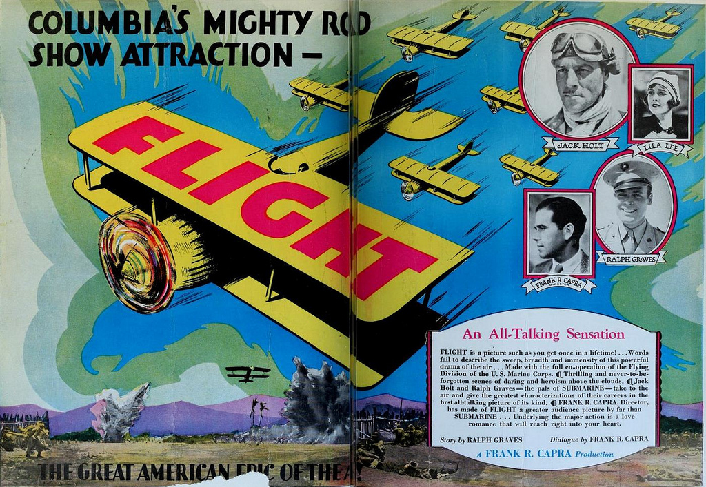Frank Capra, Ralph Graves, Jack Holt, and Lila Lee in Flight (1929)