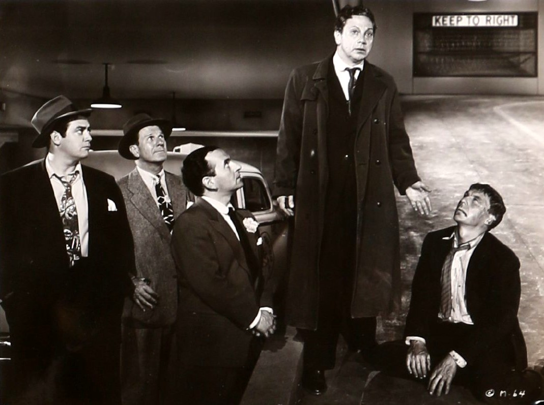 Raymond Burr, Luther Adler, Martin Gabel, and David Wayne in M (1951)