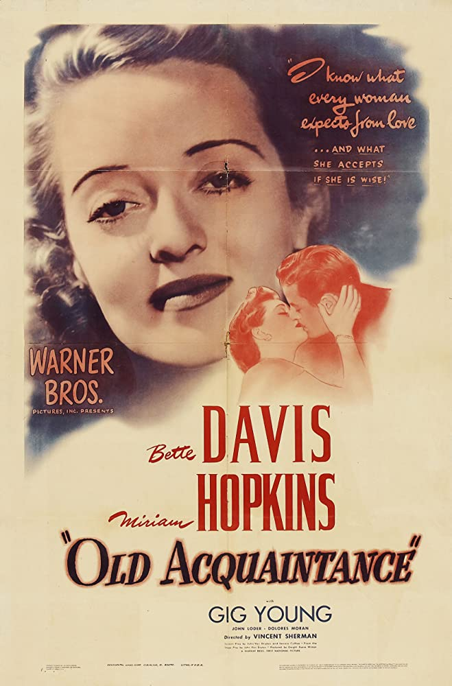 Bette Davis and Gig Young in Old Acquaintance (1943)