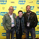 """With Simon Rumley, director, and Milton Kam, director of photography, at SXSW screening of """"Johnny Frank Garrett's Last Word."""""""