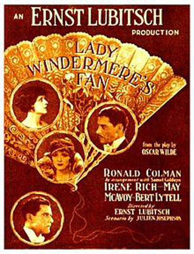 Ronald Colman, Bert Lytell, May McAvoy, and Irene Rich in Lady Windermere's Fan (1925)