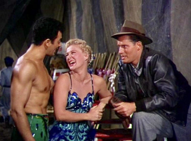 Charlton Heston, Betty Hutton, and Cornel Wilde in The Greatest Show on Earth (1952)