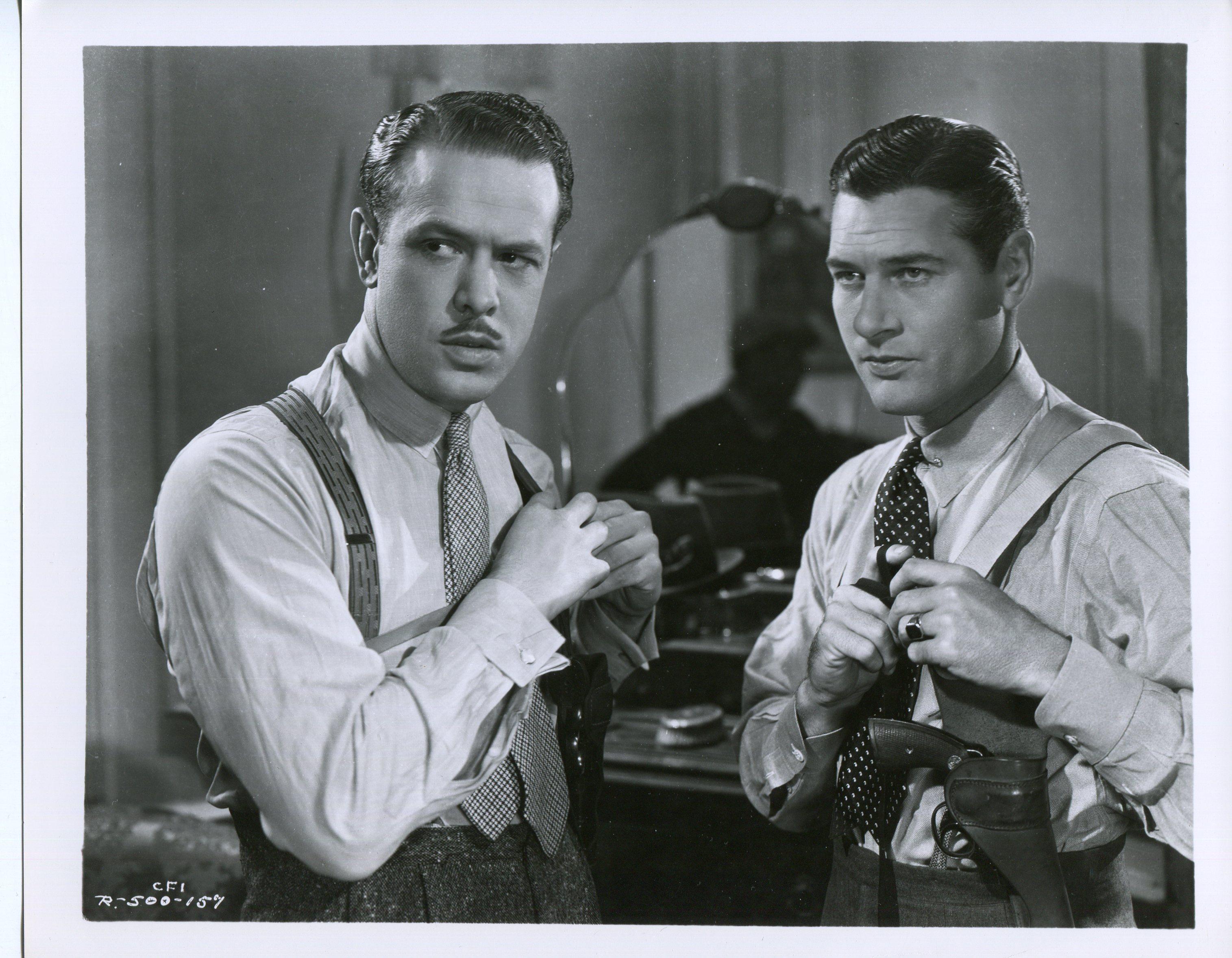 Richard Arlen and Harvey Stephens in Let 'em Have It (1935)