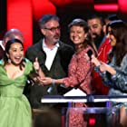 Andrew Miano, Peter Saraf, Aubrey Plaza, Daniele Tate Melia, and Lulu Wang at an event for 35th Film Independent Spirit Awards (2020)