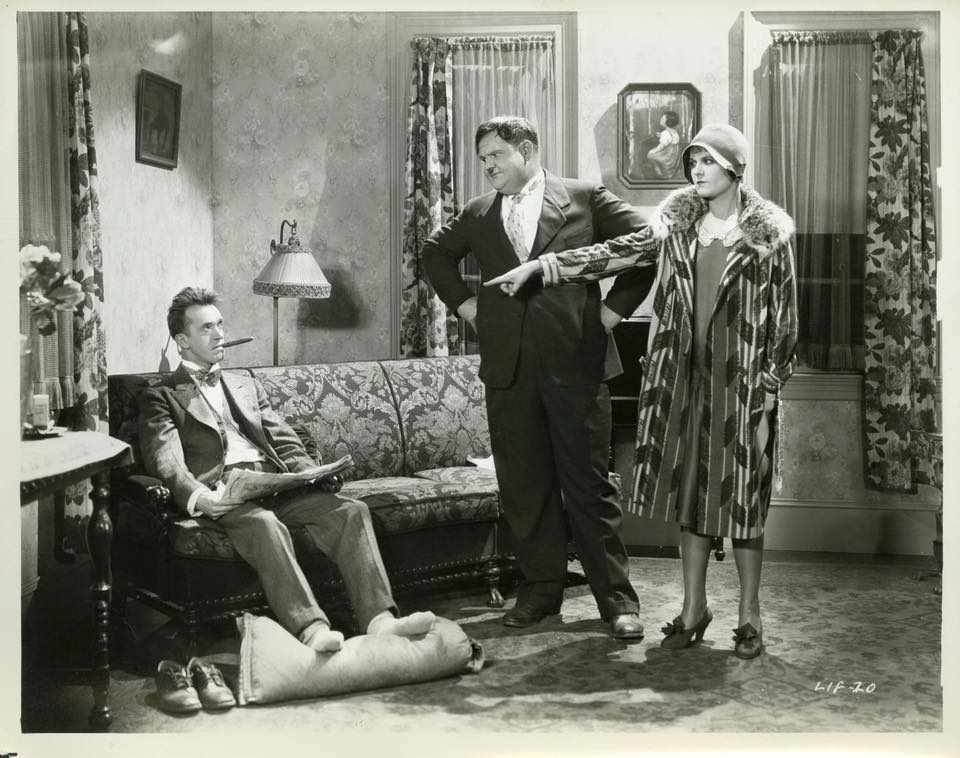 Oliver Hardy, Stan Laurel, and Vivien Oakland in That's My Wife (1929)