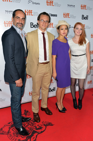 Kristin Fairlie Valerie Tian at the TIFF world premiere of Words and Pictures.