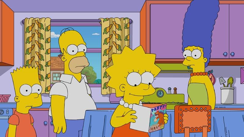 Julie Kavner, Nancy Cartwright, Dan Castellaneta, and Yeardley Smith in The Simpsons (1989)