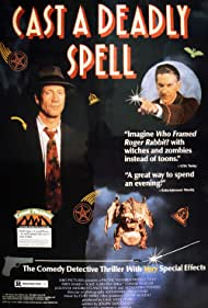 David Warner and Fred Ward in Cast a Deadly Spell (1991)