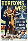 Rock Hudson, Julie Adams, and Robert Ryan in Horizons West (1952)