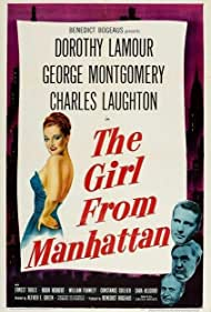 Charles Laughton, Dorothy Lamour, and George Montgomery in The Girl from Manhattan (1948)