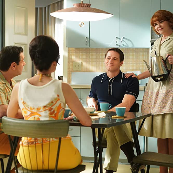 Alicia Coppola, Adam Ferrara, Ginnifer Goodwin, and Sam Jaeger in Why Women Kill (2019)