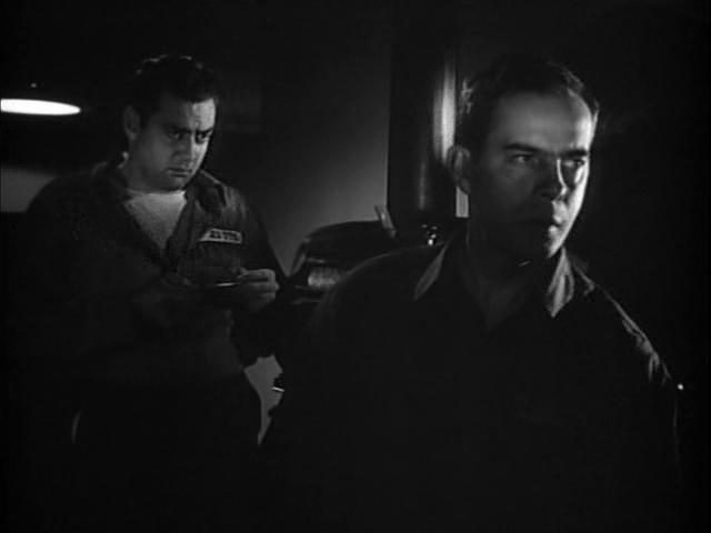 Raymond Burr and Harry Morgan in Red Light (1949)
