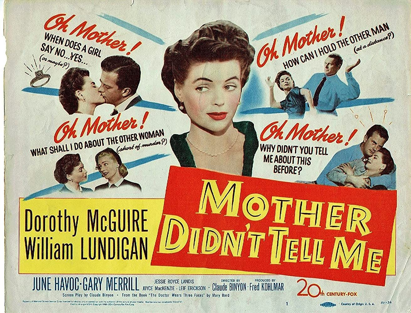 William Lundigan and Dorothy McGuire in Mother Didn't Tell Me (1950)