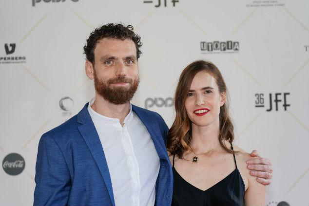 Itay Tal and Naama Preis at an event for God of the Piano (2019)