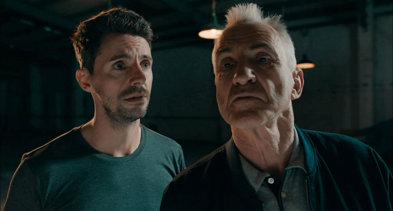 Matthew Goode and Larry Lamb in The Hatton Garden Job (2017)
