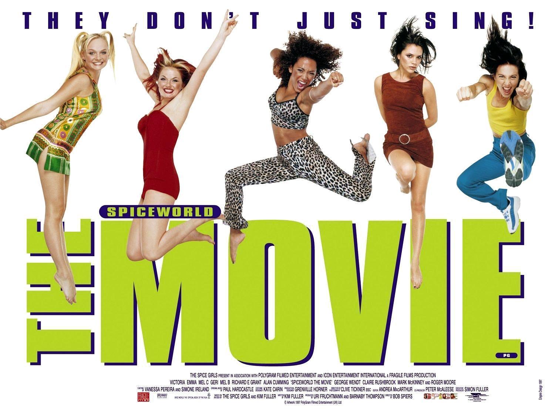 Geri Horner, Emma Bunton, Melanie C, Victoria Beckham, Mel B, and Spice Girls in Spice World (1997)
