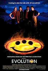 David Duchovny, Julianne Moore, Seann William Scott, and Orlando Jones in Evolution (2001)