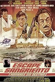 Mario Almada, Manuel Capetillo hijo, Jorge Luke, Humberto Luna, and Noé Murayama in Escape sangriento (1985)