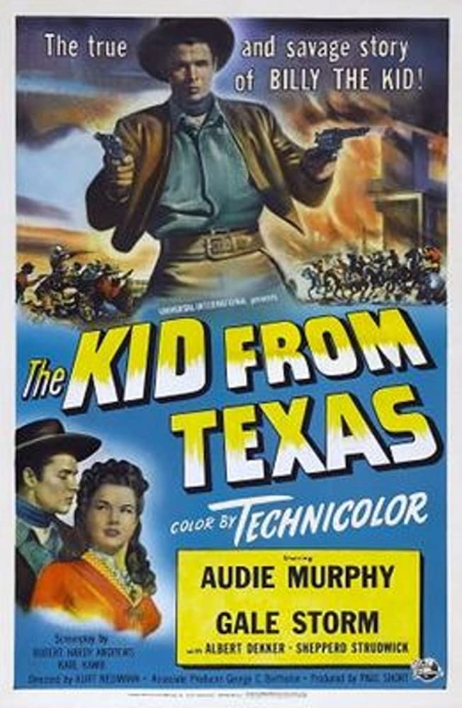 Audie Murphy and Gale Storm in The Kid from Texas (1950)