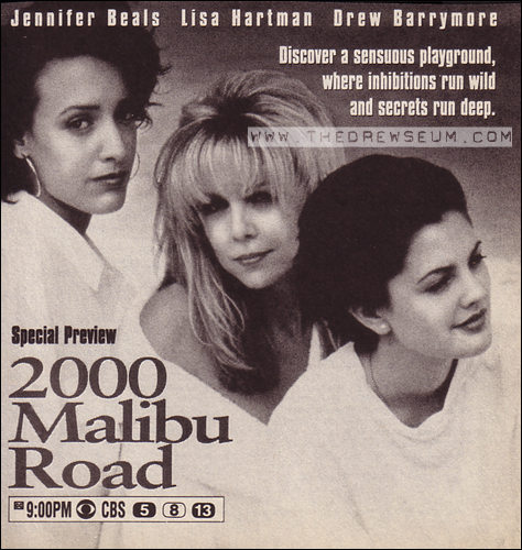 Drew Barrymore, Jennifer Beals, and Lisa Hartman in 2000 Malibu Road (1992)