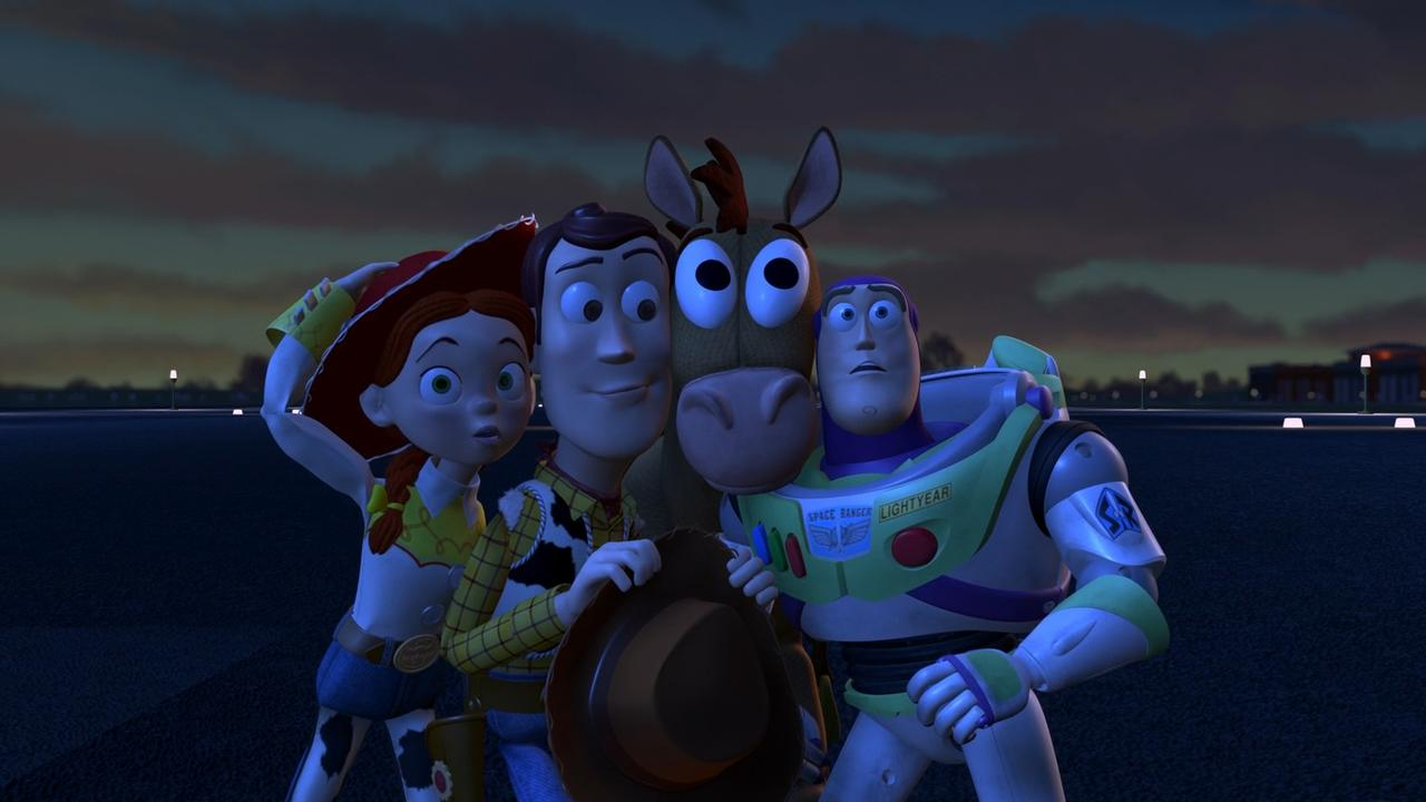 Tom Hanks, Joan Cusack, Tim Allen, and Frank Welker in Toy Story 2 (1999)