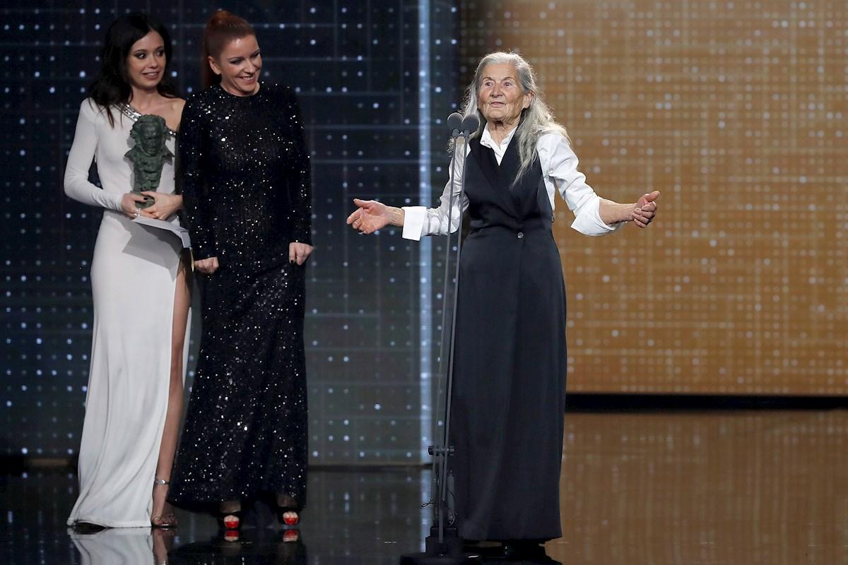 Benedicta Sánchez, Anna Castillo, and Eva Llorach in Premios Goya 34 edición (2020)