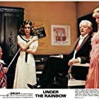 Carrie Fisher, Eve Arden, Billy Barty, and Joseph Maher in Under the Rainbow (1981)
