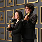 Bong Joon Ho and Sin-ae Kwak at an event for The Oscars (2020)