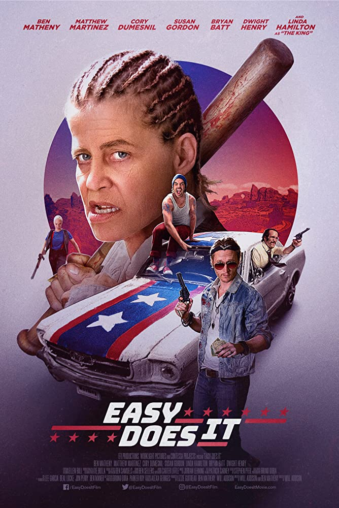Linda Hamilton, Ben Matheny, Cory Dumesnil, Matthew Paul Martinez, and Susan Gordon in Easy Does It (2019)