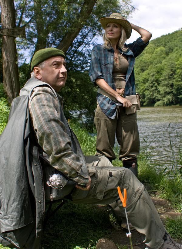 Katerina Brozová and Miroslav Donutil in 3+1 s Miroslavem Donutilem (2004)