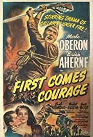 First Comes Courage Poster