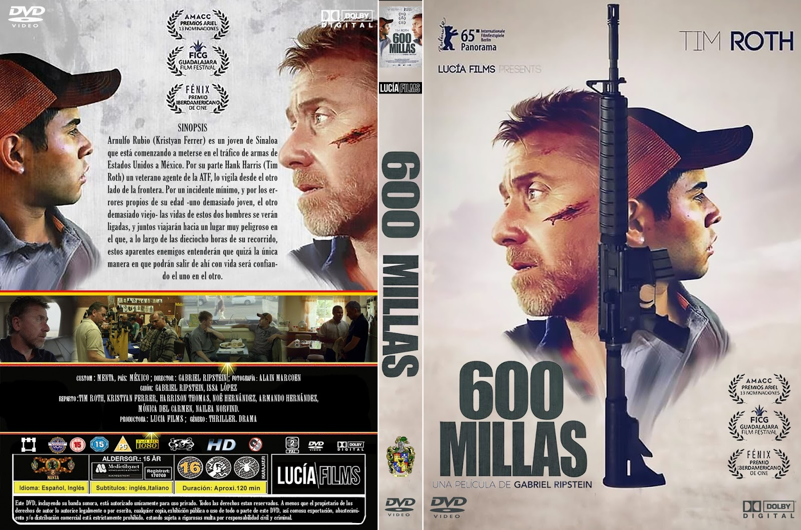 Tim Roth and Kristyan Ferrer in 600 Millas (2015)