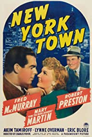 Fred MacMurray, Mary Martin, and Robert Preston in New York Town (1941)